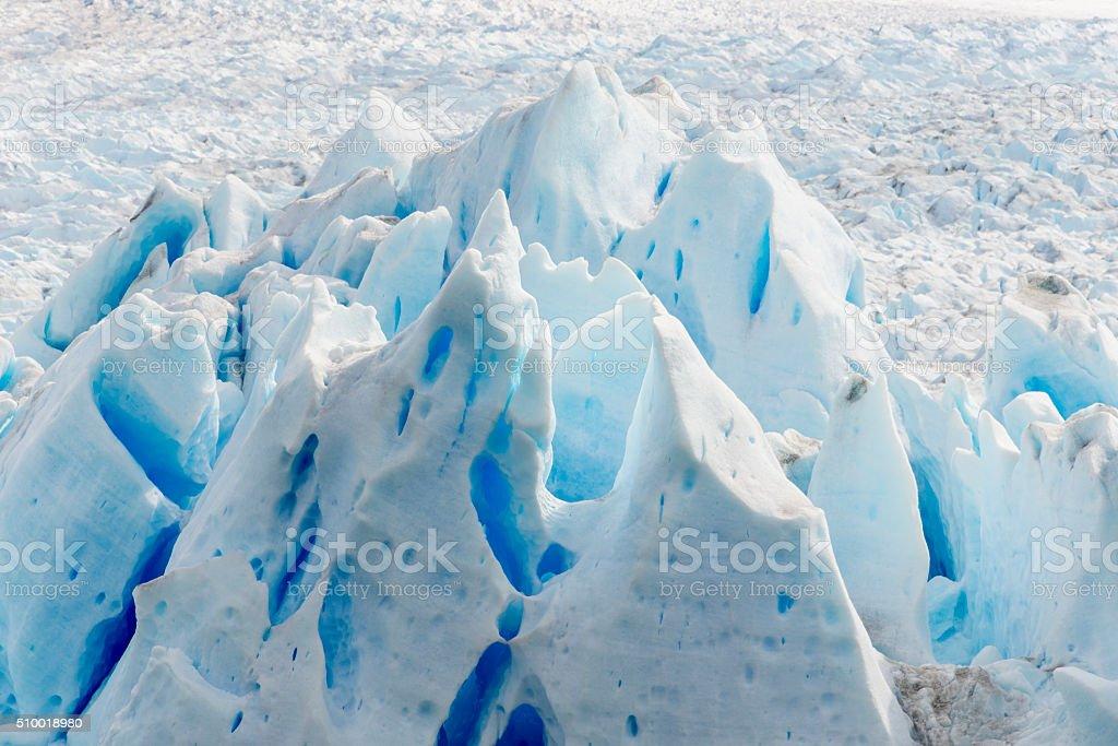 Detail of Perito Moreno glacier, Argentina stock photo