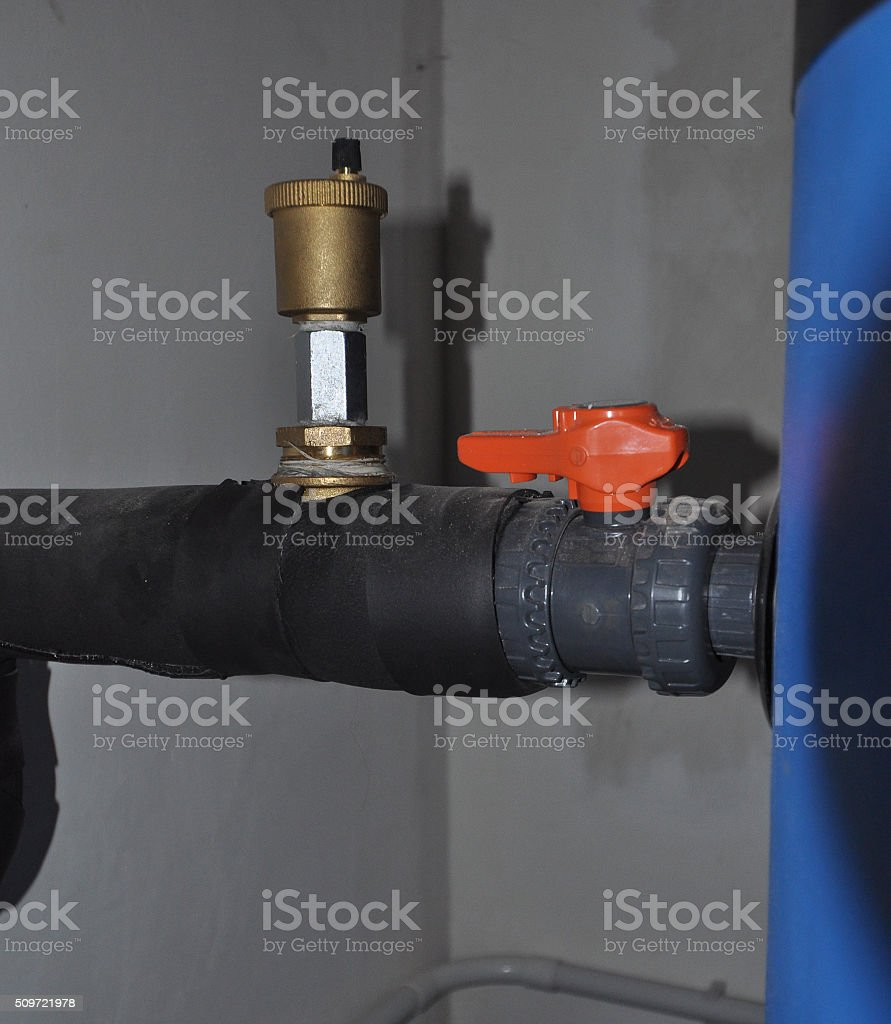 Detail of pipe stock photo