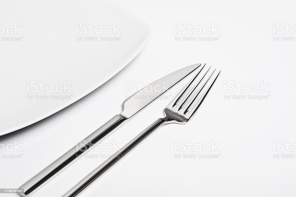 Detail of place setting royalty-free stock photo