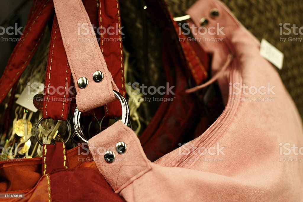 Detail of purses for sale royalty-free stock photo