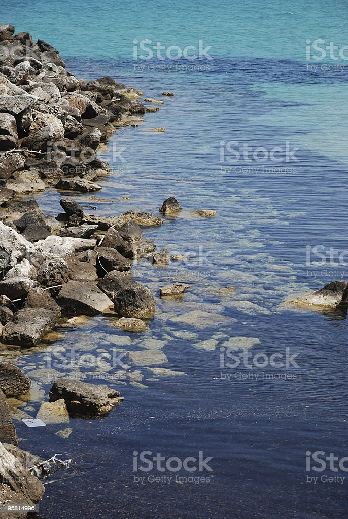 Detail of Rocks and Water royalty-free stock photo