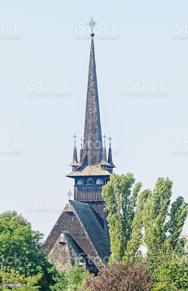 Detail of romanian church from Constanta, Romania stock photo