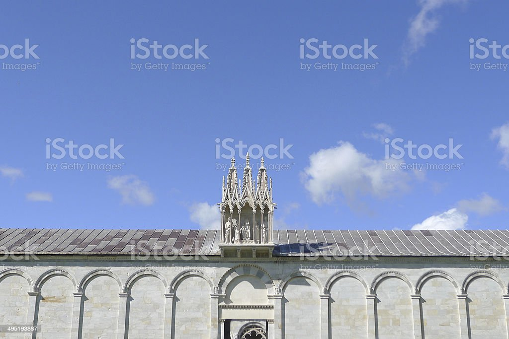 Detail of Roof at Camposanto, Pisa stock photo