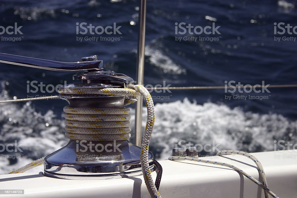detail of rope out at sea royalty-free stock photo