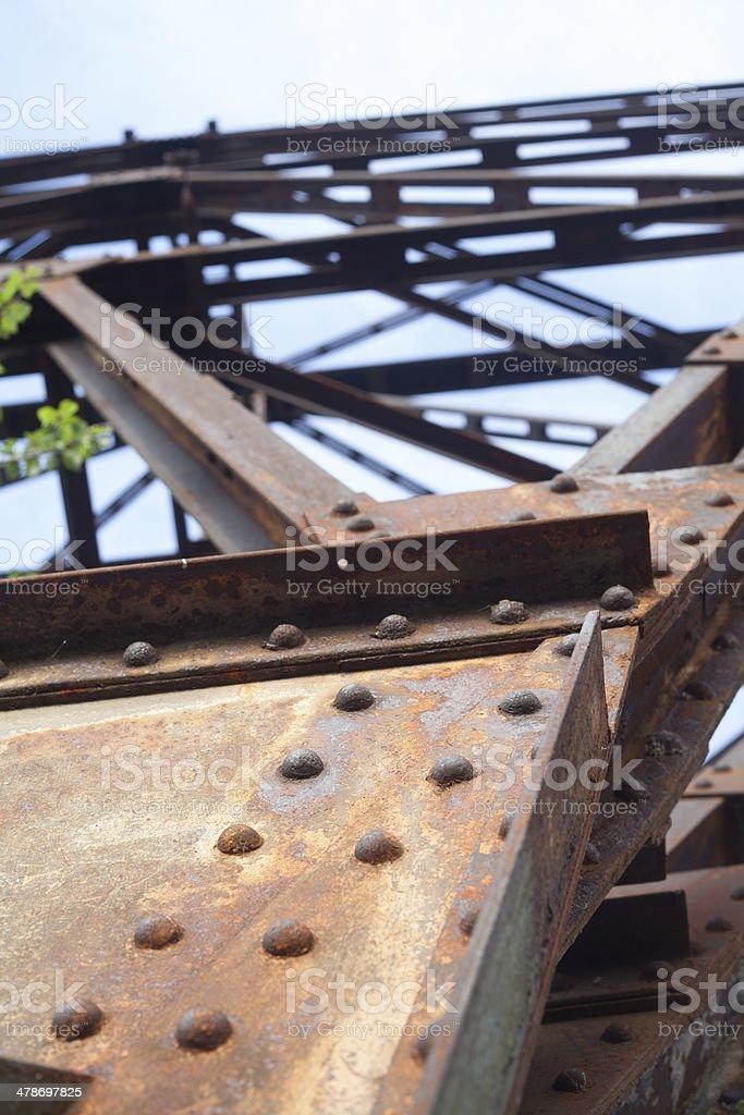 detail of rusty telephone column stock photo