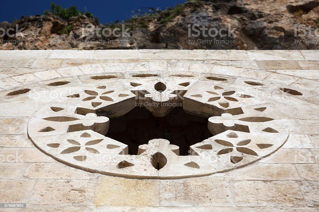 Detail of Saint Pierre Church in Antakya stock photo