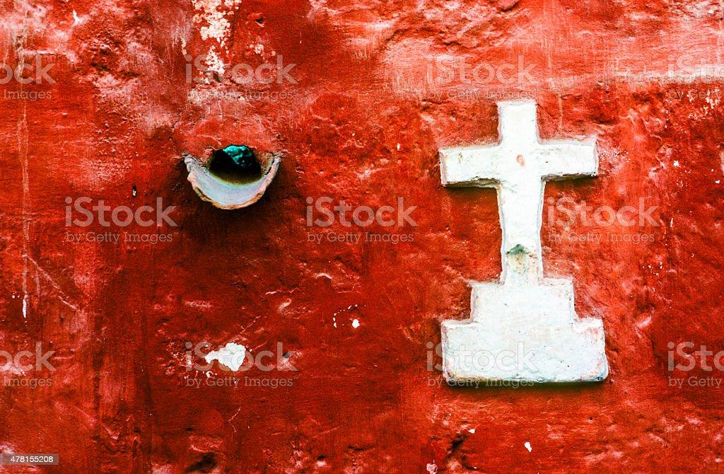 detail of Santa Catalina Monastery stock photo