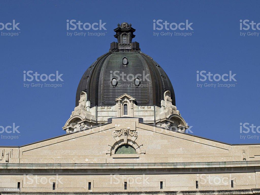 Detail of Saskatchewan Legislative Building royalty-free stock photo