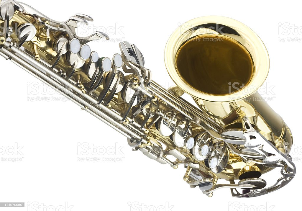 Detail of saxaphone royalty-free stock photo