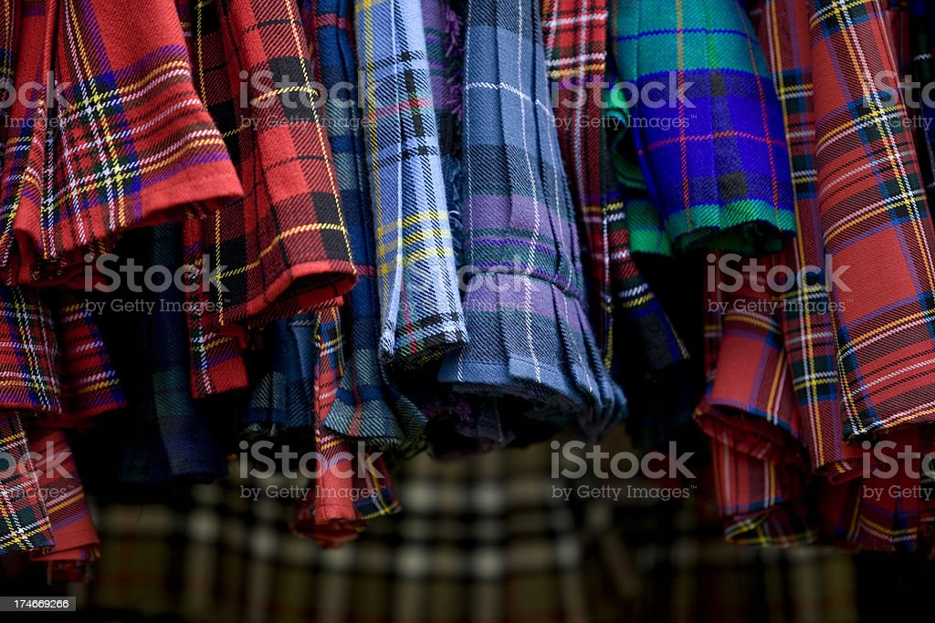 Detail of scottish traditional clothing royalty-free stock photo