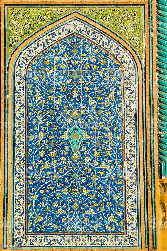 Detail of Sheikh Lotfollah Mosque in Isfahan, Iran stock photo