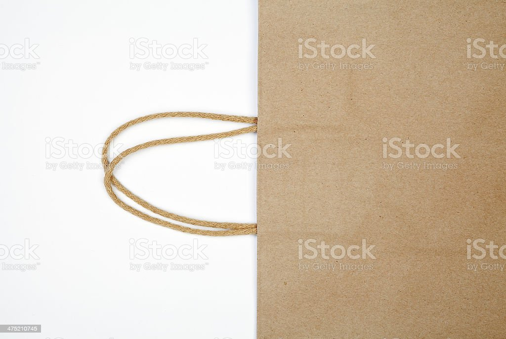 Detail of shopping bag. royalty-free stock photo