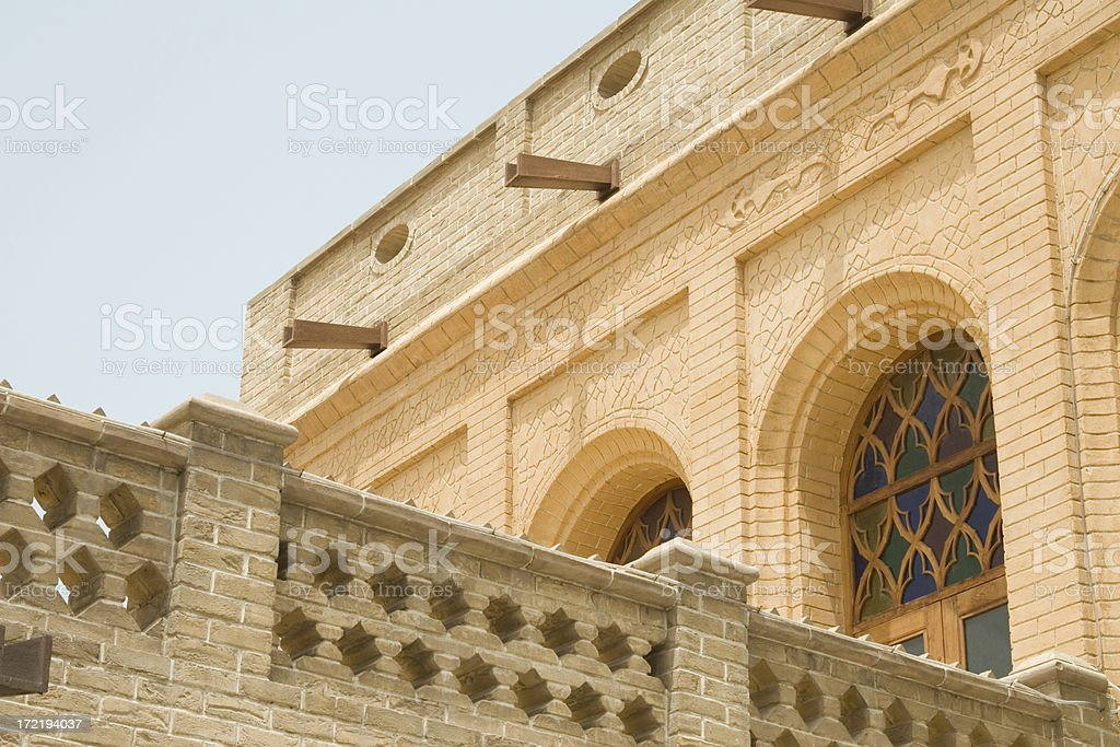 Detail of Sief Palace, Kuwait city royalty-free stock photo