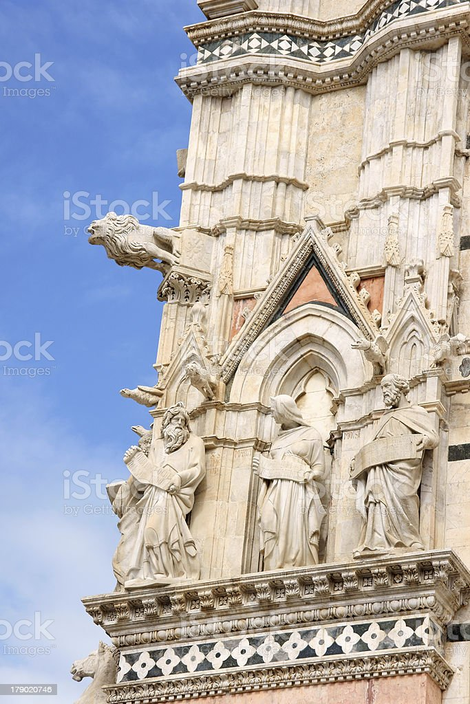 Detail of Siena Cathedral in Italy royalty-free stock photo