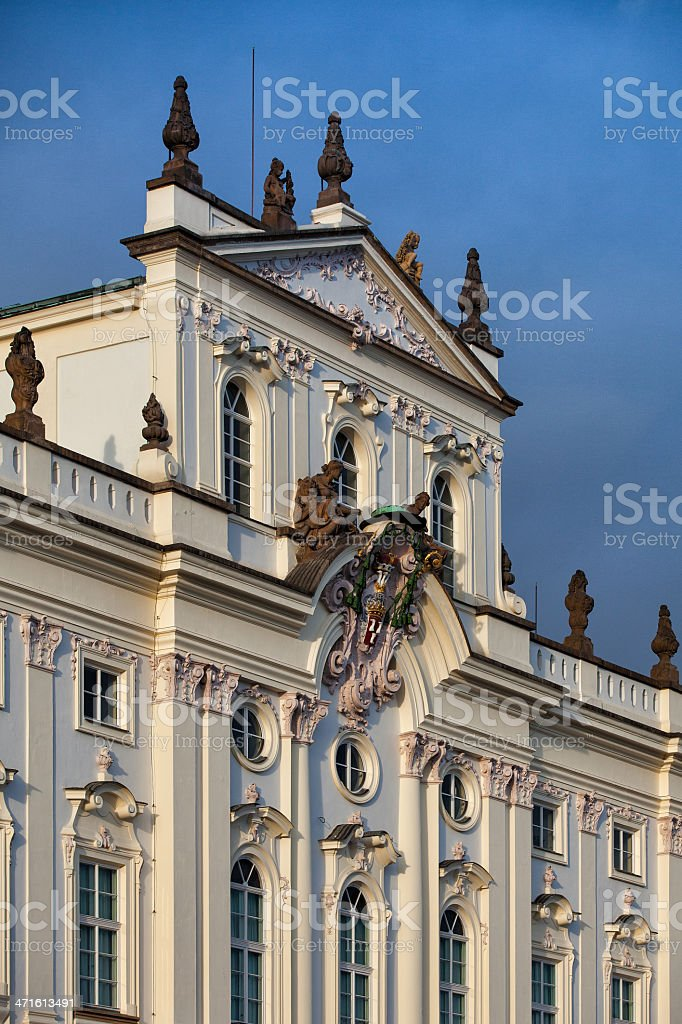 Detail of Smiricky palace royalty-free stock photo