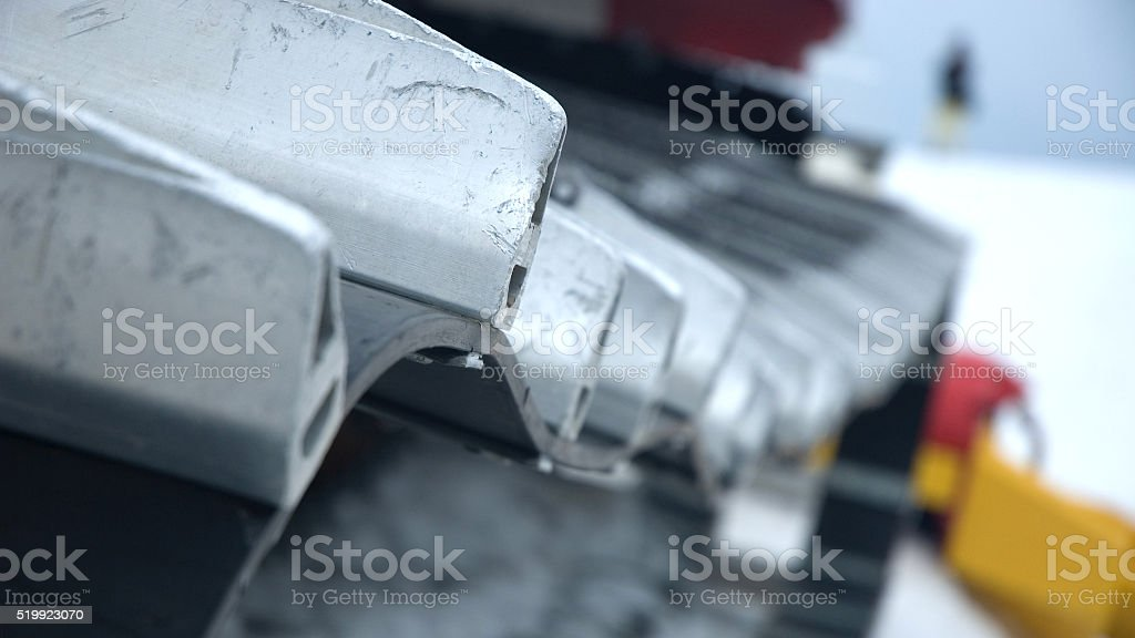 detail of snow groomer stock photo