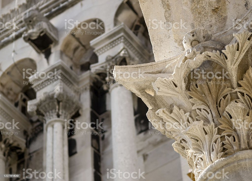 Detail of Split (Croatia) stock photo