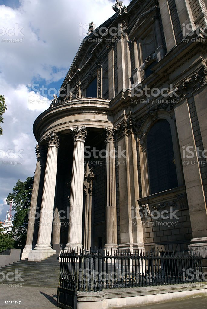 Detail of St. Paul's Cathedral royalty-free stock photo