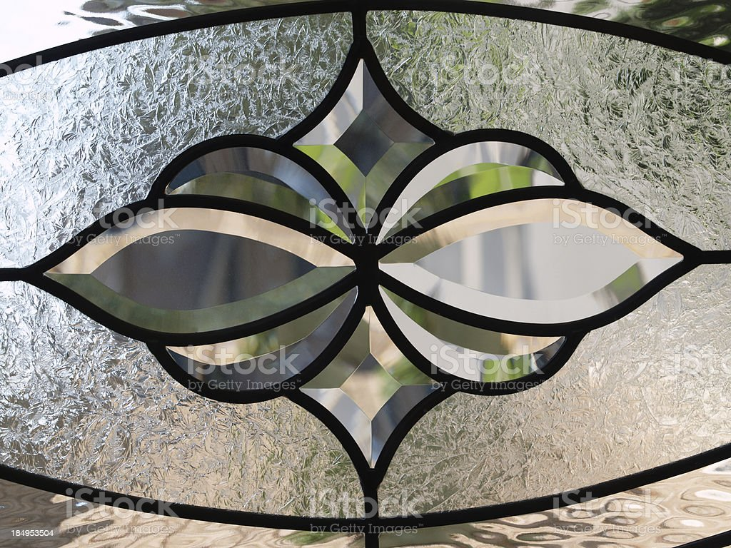 Detail of stained glass window royalty-free stock photo