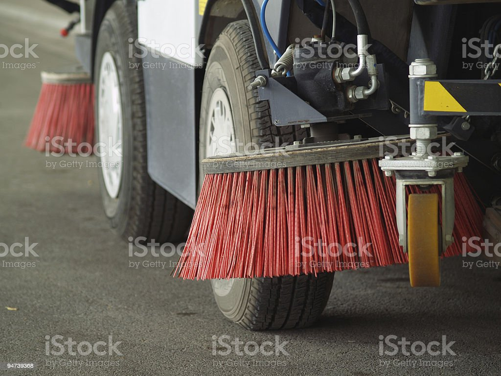 Detail of Street sweeper royalty-free stock photo
