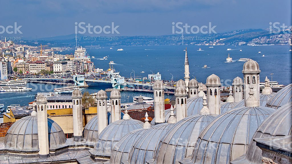 detail of suleymaniye mosque stock photo