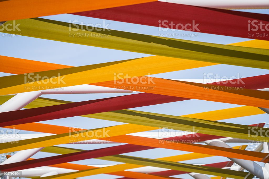 detail of summer awning stock photo