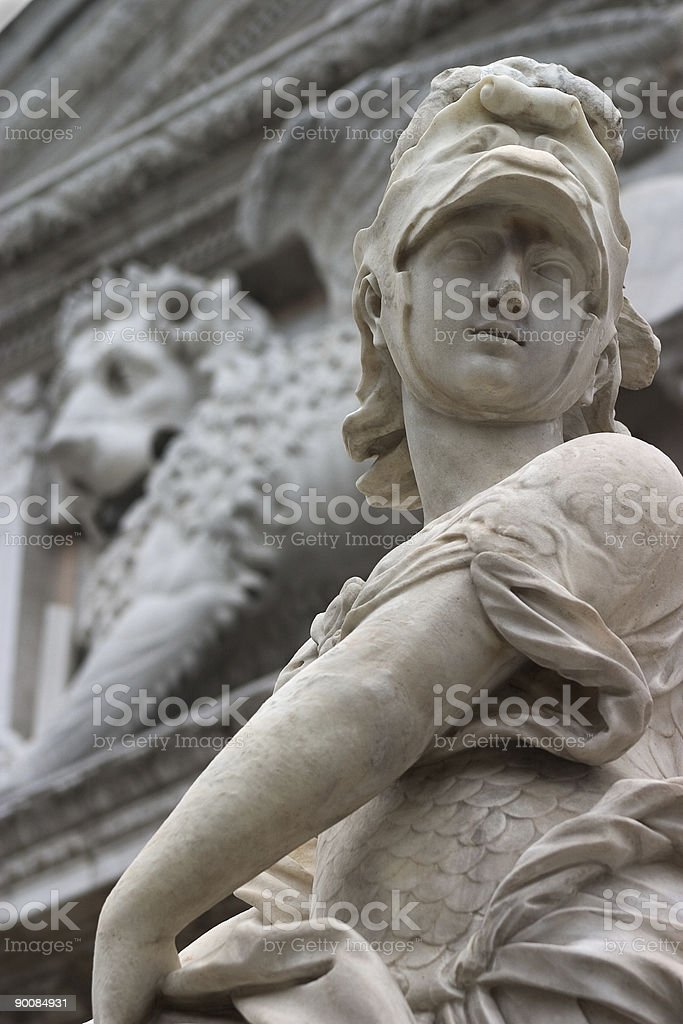 Detail of the Arsenale, Venice royalty-free stock photo