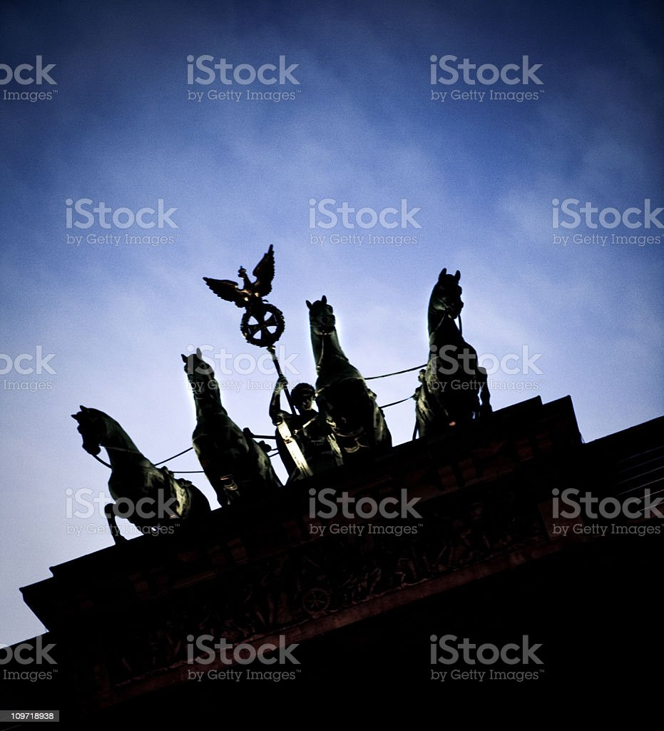 detail of the Brandenburg gate stock photo