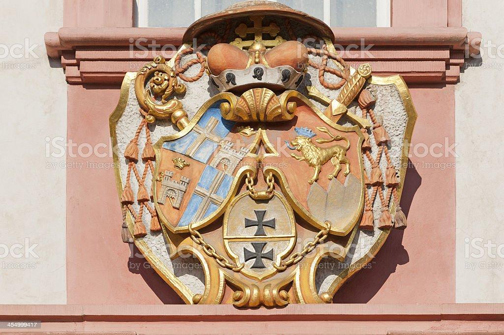 Detail of the Bruchsaler Schloss stock photo