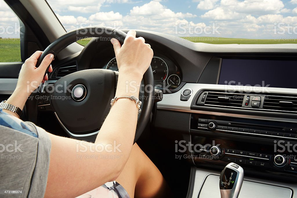 Detail of the car interior stock photo