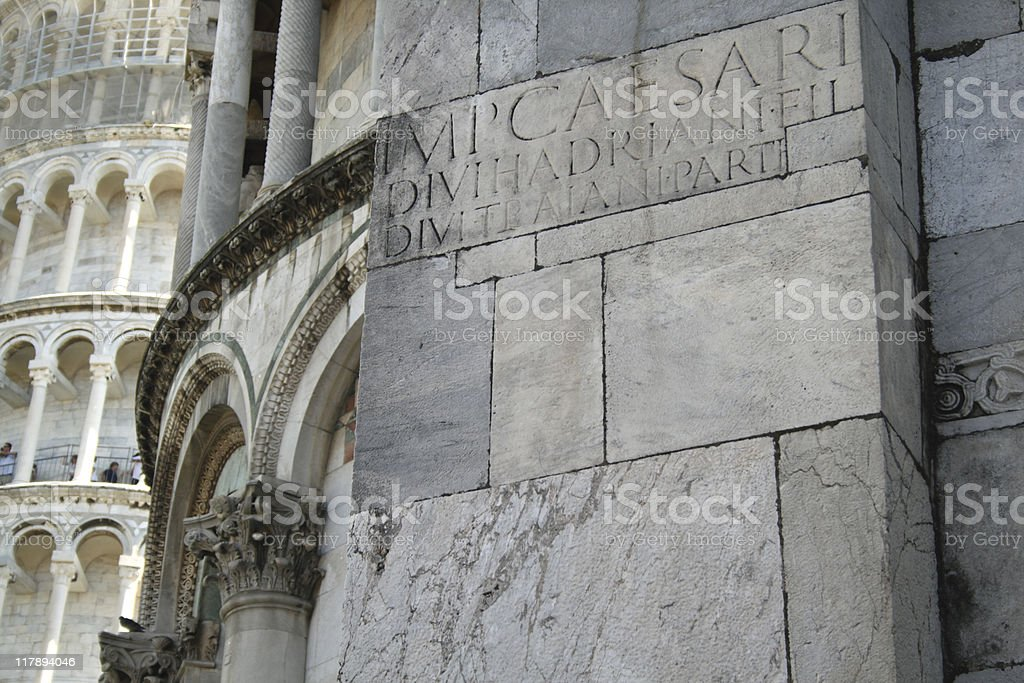 Detail of the Cathedral, Pisa, Italy stock photo