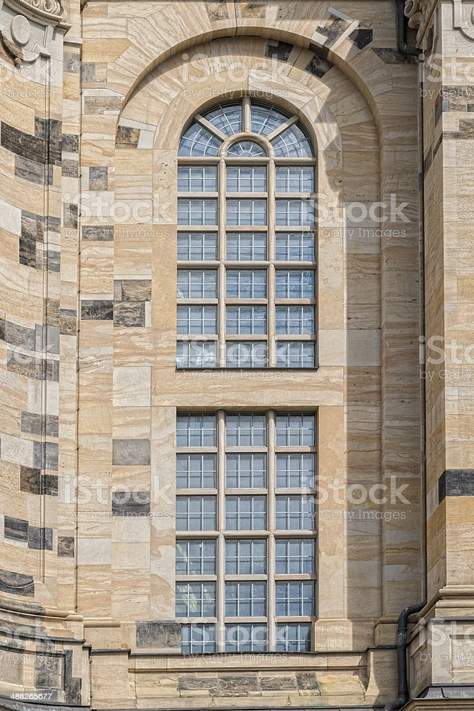 Detail of the church of our lady in Dresden royalty-free stock photo