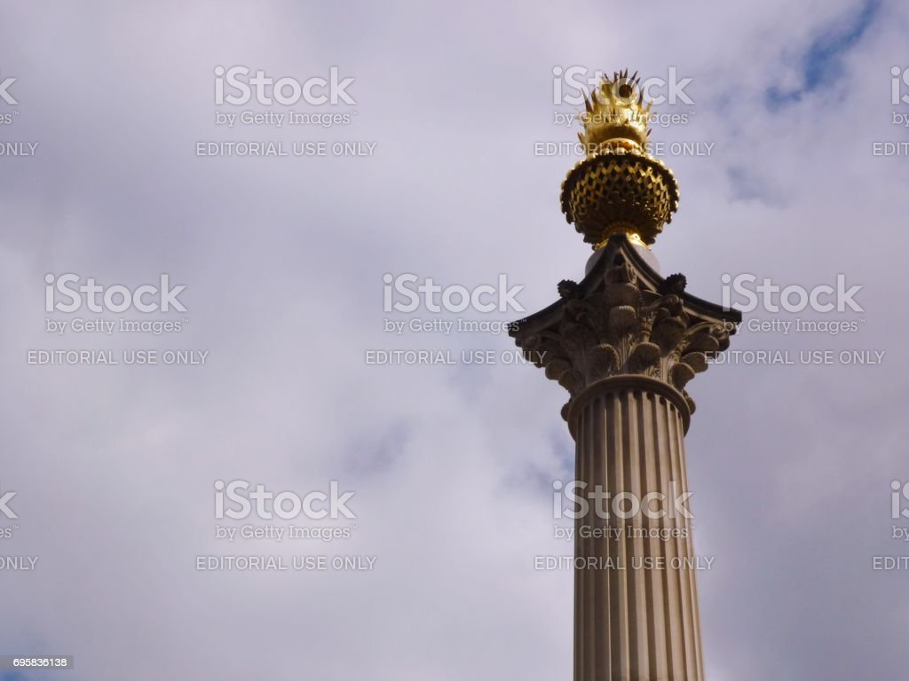 Detail of the column in Paternoster Square next to St Paul's Cathedral, London, England stock photo