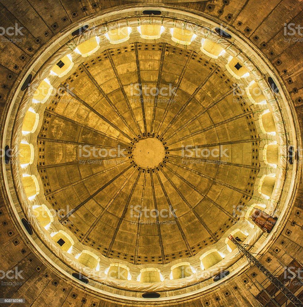 Detail of the Dome of Church of Saint Sava. Belgrade royalty-free stock photo