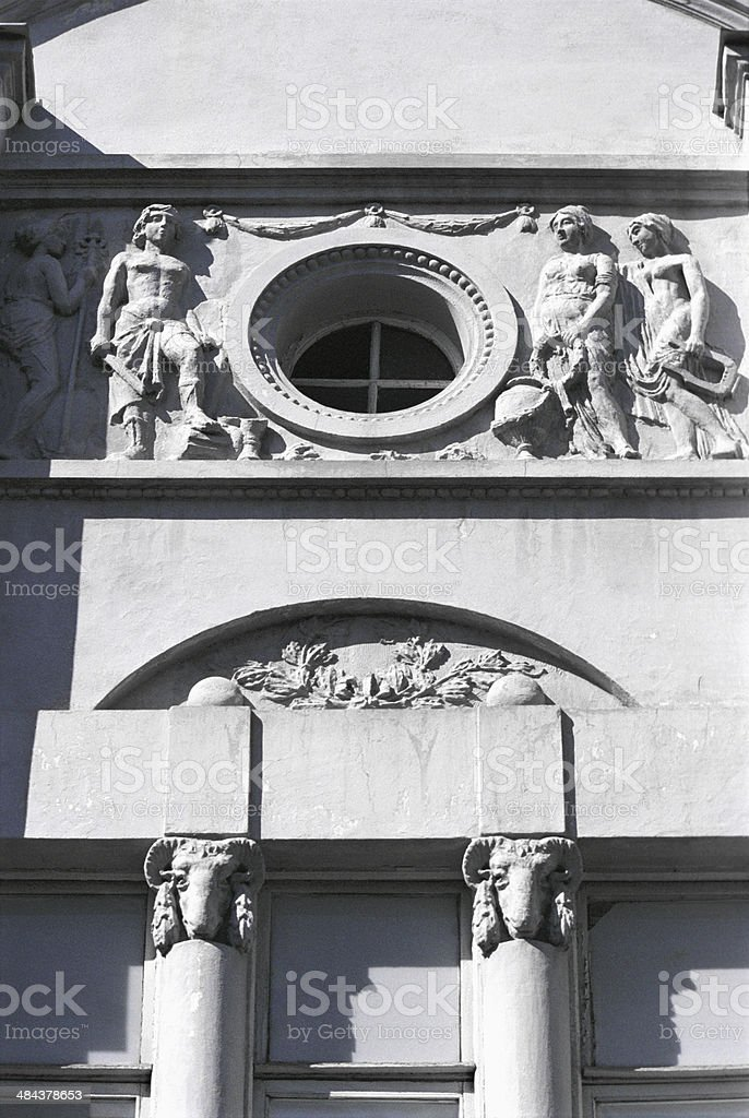Detail of the facade. royalty-free stock photo
