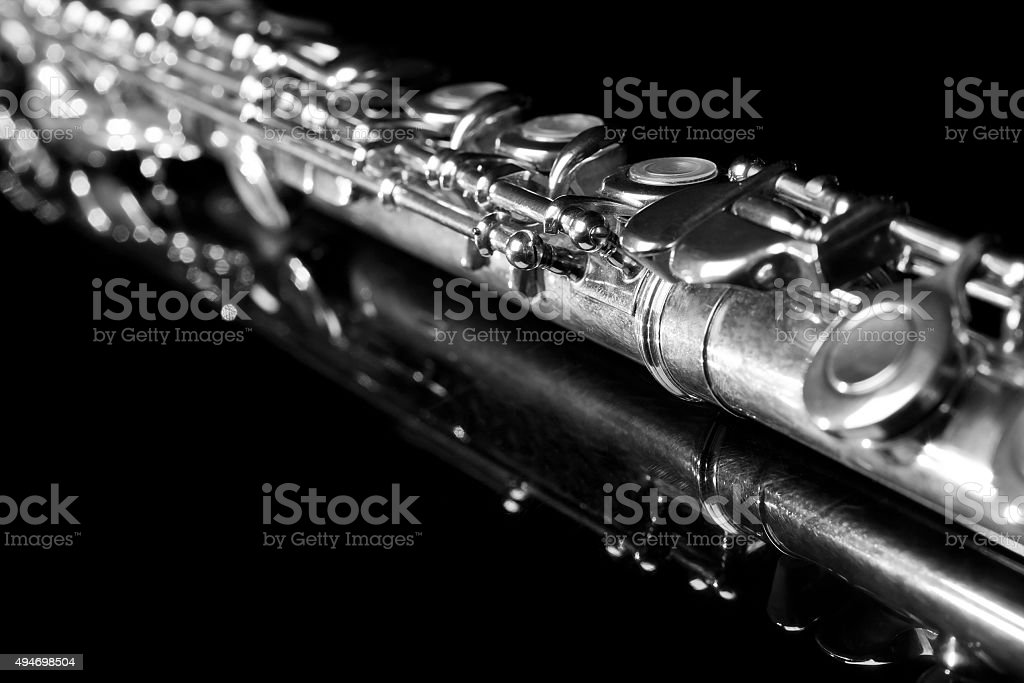 Detail of the flute stock photo