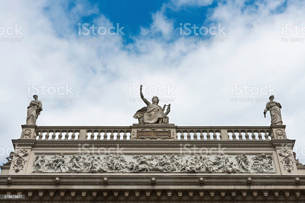 Detail of the frieze at the Hofburgtheater in Vienna stock photo