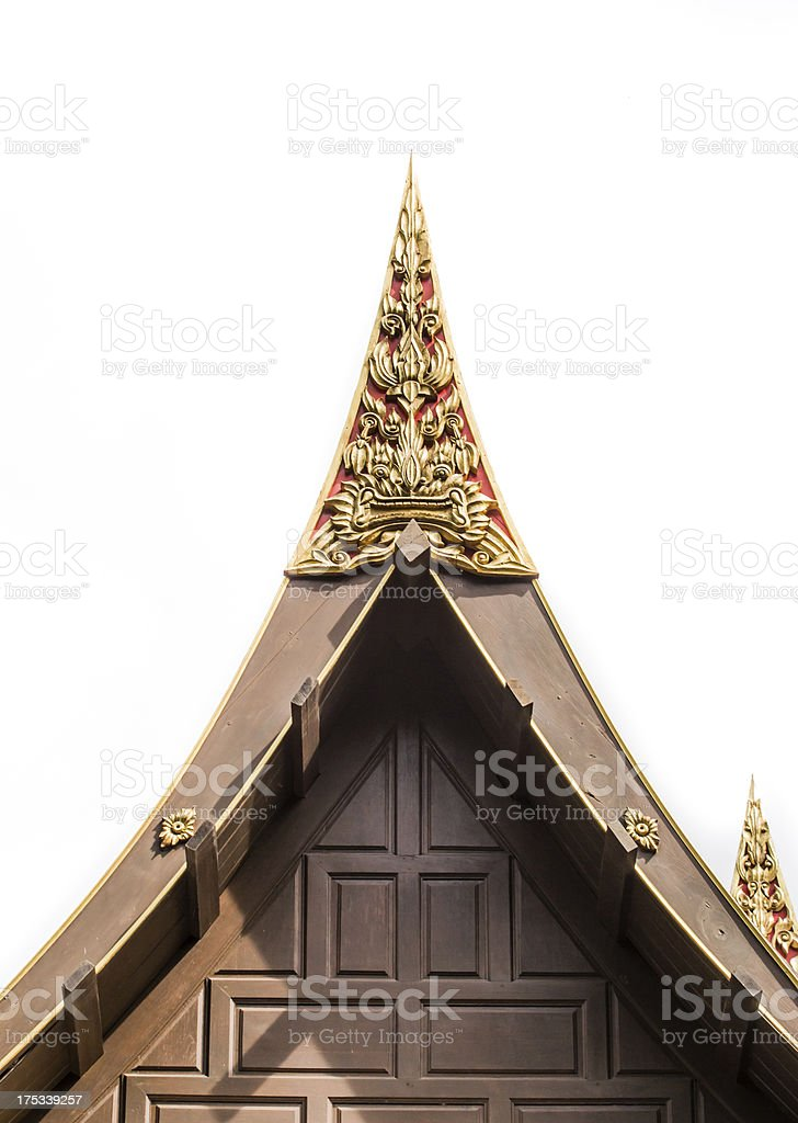 detail of the gable stock photo