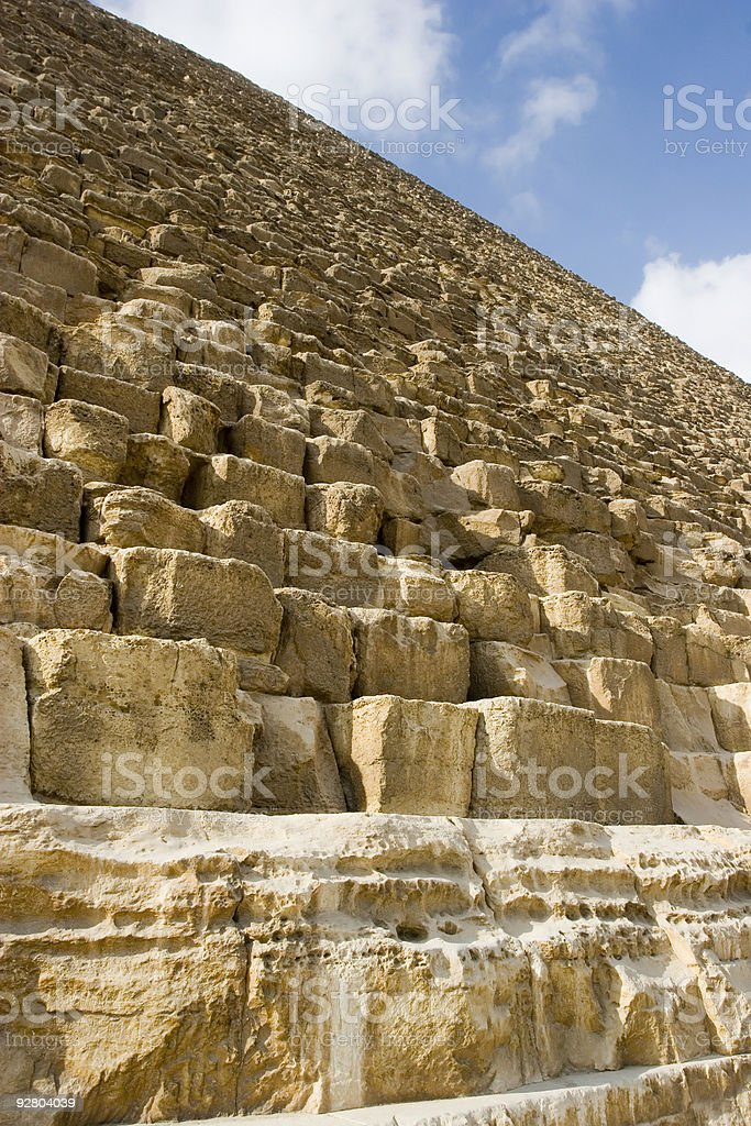 Detail of the Great Pyramid stock photo
