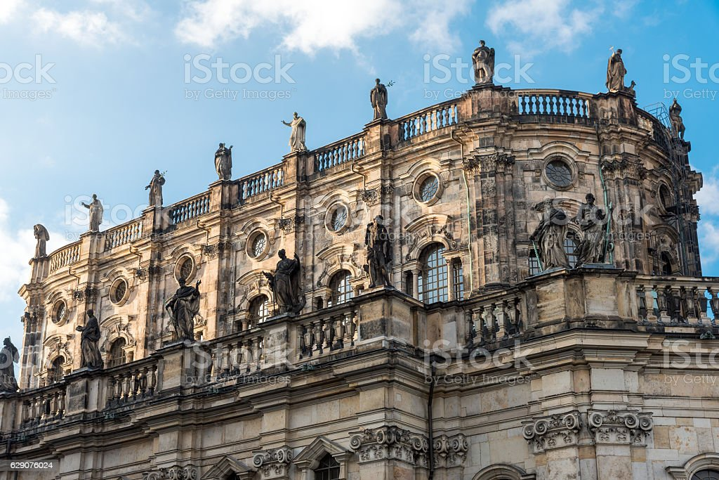 Detail of the Hofkirche in Dresden stock photo