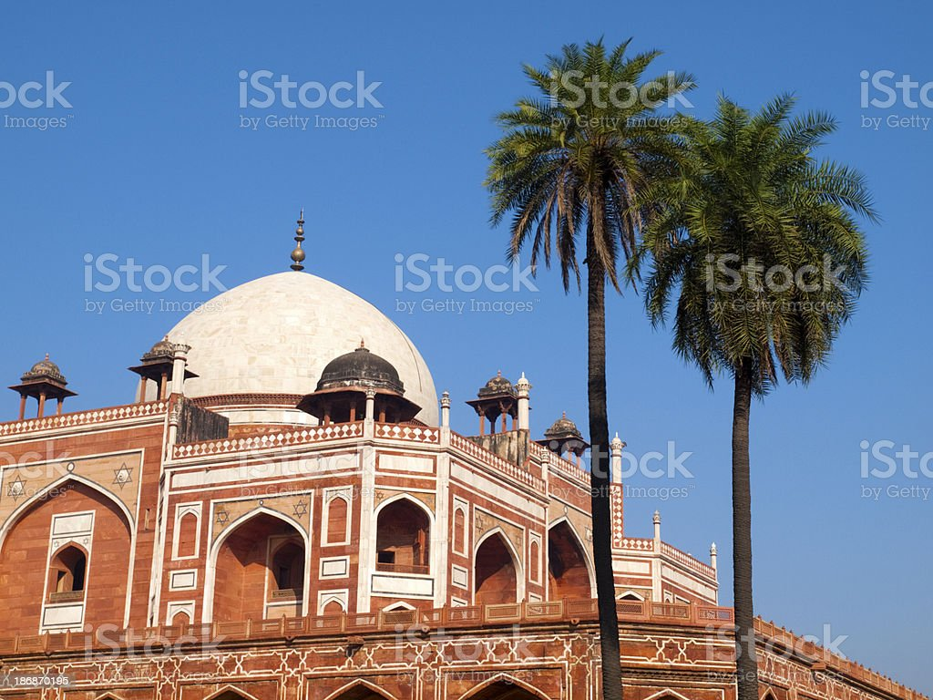 Detail of the Humayun Tomb, Delhi royalty-free stock photo