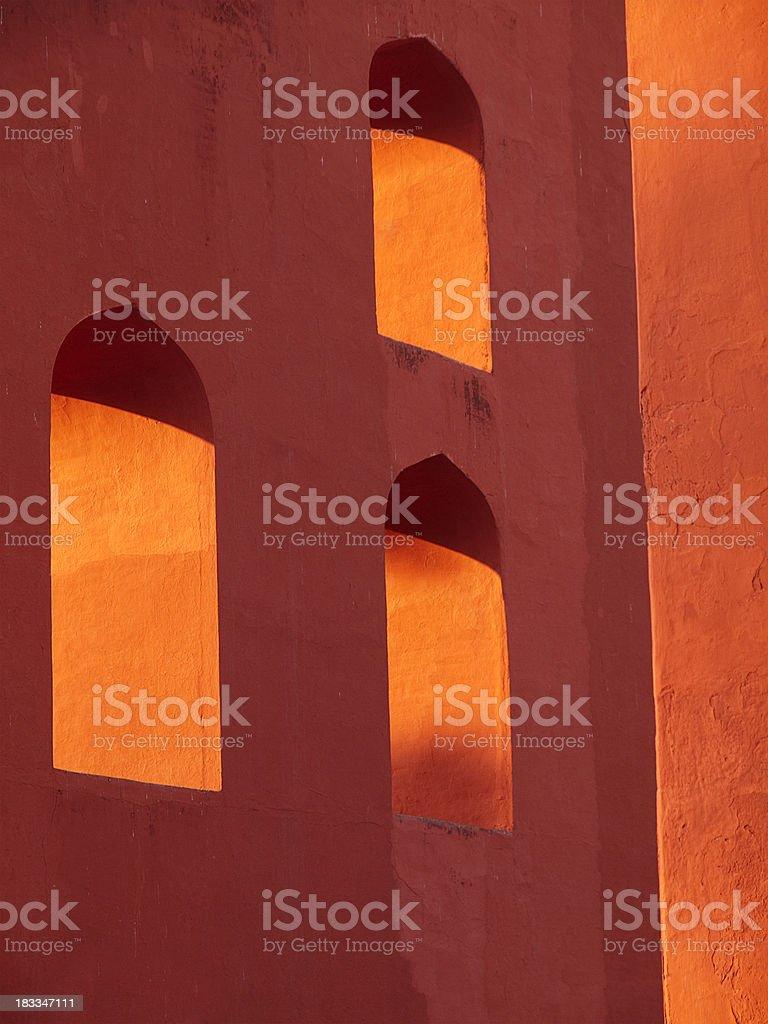 Detail of the Jantar Mantar Observatory, Delhi stock photo