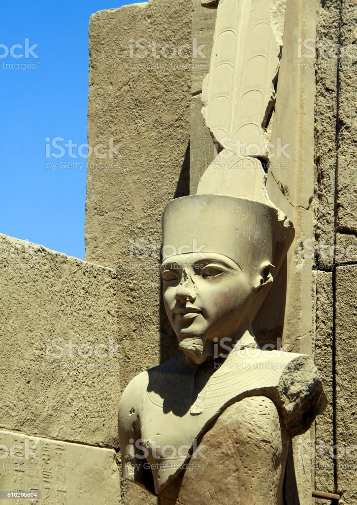 Detail of the Karnak Temple Complex. stock photo