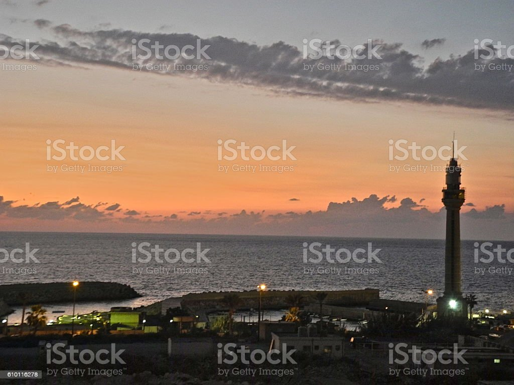 Detail of the Lighthouse, Beirut stock photo