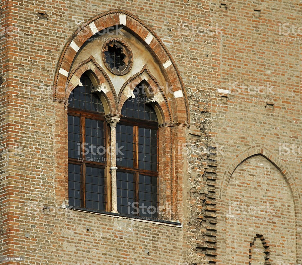 detail of the medieval building in the town of Mantua stock photo