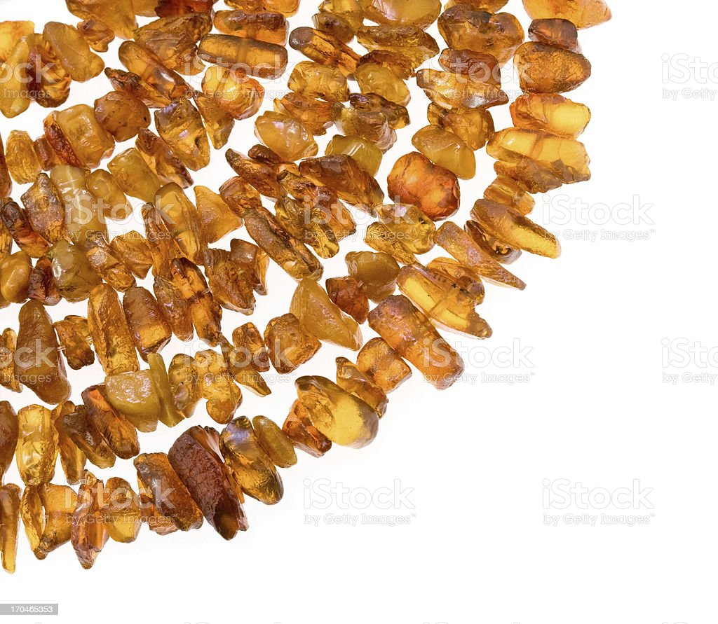 Detail of the natural Blatic amber necklace. royalty-free stock photo