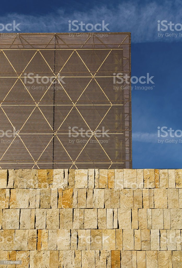 Detail of the new main synagogue in Munich. stock photo