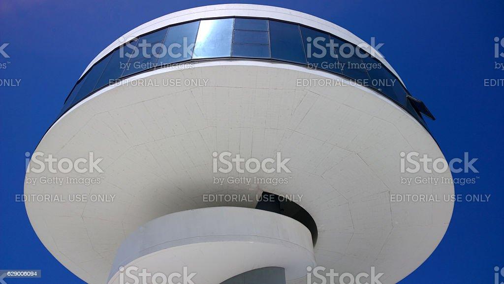 Detail of the Niemeyer Center in Aviles, Spain stock photo