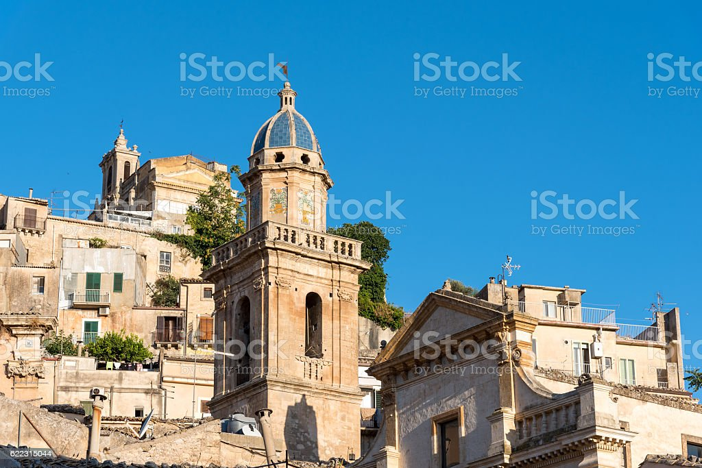 Detail of the old Ragusa Ibla stock photo