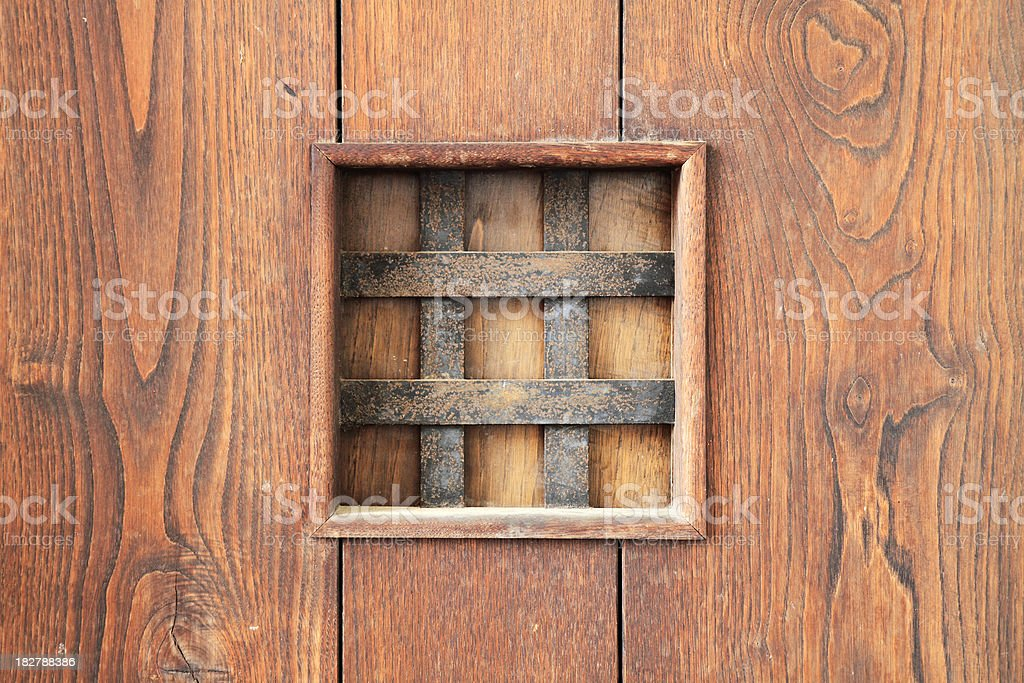 Detail of the old wooden door royalty-free stock photo